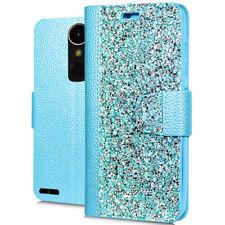 LG M250 K20 Plus Harmony Rock Diamond Fashion Wallet Case Teal