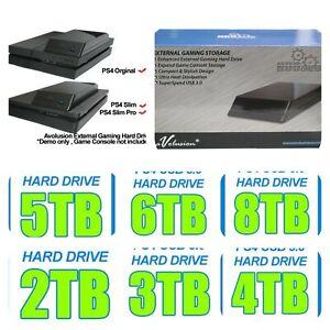 10TB - 2TB Avolusion PS4 Playstation Portable External Hard Drive HDD USB 3.0