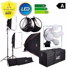 1500W Twin Softbox 10 LED Bulbs Daylight Lamp Continuous Lighting Kit Padded Bag