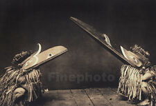 1900/72 Folio NATIVE AMERICAN INDIAN Costume Dance Birds Masks Photo Art, CURTIS