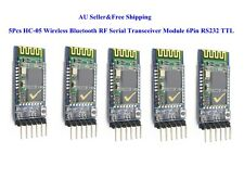 5Pcs HC-05 Wireless Bluetooth RF Serial Transceiver Module 6Pin RS232 TTL AU