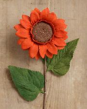 Orange Burlap Sunflower Stem