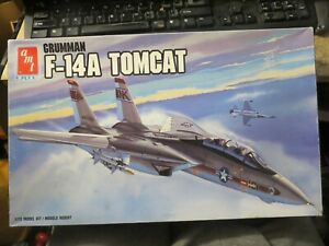 vintage AMT Grumman F-14A Tomcat Military Airplane model kit