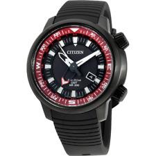 Citizen Eco-drive Mens GMT Dual Time 200m Watch Bj7085-09e