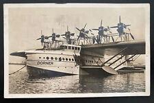 1930 Zurich Switzerland RPPC Postcard Cover To Germany DOX Sea Plane Parked