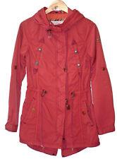 Khujo Womens Red MARIS VIntage Inspired Fashion Parka Jacket Coat Size S ~ EUC