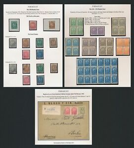 PARAGUAY STAMPS 1900-1902 ISSUES, DIE PROOFS, MULTIPLES & REG COVER TO GERMANY