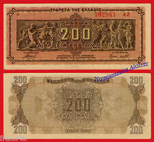 GRECIA GREECE 200 Million Drachmai 200000000 dracmas 1944 Pick 131  SC- /  aUNC