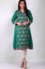 Khaadi latest pakistani designer full embroidered shirt Size 10