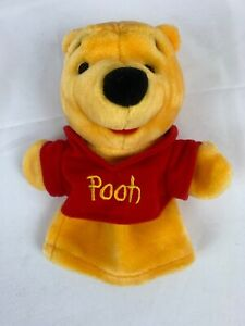 Mattel Disney Winnie the Pooh Hand Puppet Bear Plush Stuffed Red Shirt ARCOTOYS
