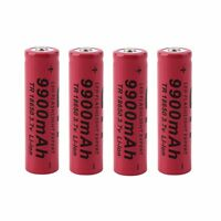 4pcs 3.7V 18650 9900mAh Li-ion Rechargeable Battery For Flashlight Torch EK