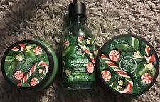 NEW bodyshop Xmas 18 Peppermint Candy Cane gift set rrp £37.50 butter gel scrub