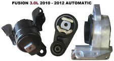 9R3150 3pc Motor Mounts fit 3.0L FWD AWD 2010 - 2012 Ford Fusion AUTOMATIC Trans