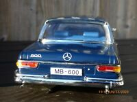 Rare Blue Limited Edition Sun Star 1:18 Grosser King MERCEDES BENZ 600 Toy Car