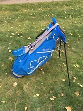 SUN MOUNTAIN 2.5+ GOLF STAND BAG w/ Rain Hood - Gray / Cobalt