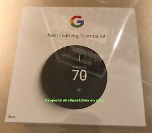 NEW Google Nest Learning Thermostat 3rd Generation - Mirror Black (T3016US)