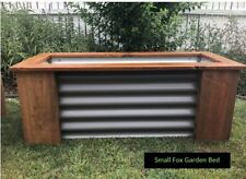Small RusticRaised Timber and Corrugated SteelGarden Bed