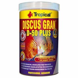 Tropical DISCUS GRAN D-50 PLUS 1000 ml  Colour-enhancing sinking granules