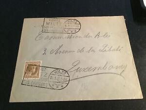 Luxemburg Sonderstempel auf Brief 1933 Wiltz 2