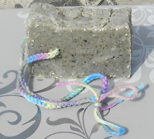 Soap on a Rope Lard  and Lye Dirty Hippie Hippy Hemp Seed Gift Peppermint Clay