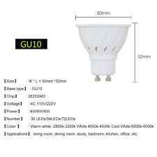 GU10 MR16 E27 4W/5W/6W/7W LED Spotlight Cool/Warm White Bulb 12V/110V/220V Lamps