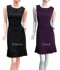 Work Sleeveless Dresses for Women with Pleated