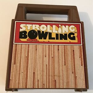 Vintage Tomy STROLLING BOWLING Wind Up Game Toy #7071 1970s 1980s  Missing Ball