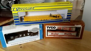 3 MIXED BOXED HO WAGONS,BACHMANN SILVER.N AND W.TYCO BILLBOARD REFFER/OZFREIGHT