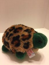 "Mary Meyer Plush Turtle 9""L Removeable Leopard Print Shell Cute & Soft"