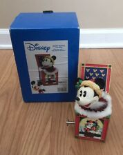 "Disney's Enesco Mickey Mouse ""Mickey In The Box"" Musical Figurine 4002351 Euc"