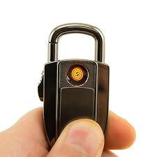 Cigarette Multi functional Wind Resistant USB Lighter Key Chain Ring