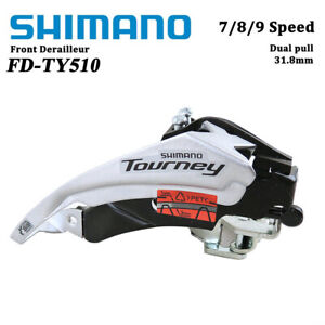 Shimano FD-TY510 6/7/8 Speed MTB Bicycle Front Derailleur Dual pull 31.8/34.9mm