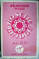 Vintage Piatnik Wien Rosette Bridge Nr. 1414 - 33 Blade um 1970