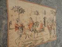 Vintage French Beautiful Arabian Scene Tapestry 83x59cm (A633)