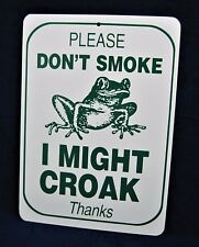 "PLEASE DON'T SMOKE - 8-1/2""x12"" Plastic Novelty Sign -Man Cave Garage Office Bar"