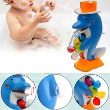 Cute Dolphin Bath Shower Wheel Toy Baby Kids Water Spraying