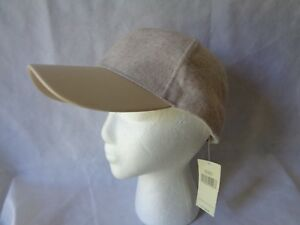 Collection 18 Women's Beige Faux Leather Brim Baseball Hat Adjustable nWT