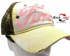 Realtree Ford Camouflage Pink Yellow Women's Hat Cap Baseball Hunt Camp RV