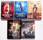 LOT DE 6 DVD / RESIDENT EVIL - MILLA JOVOVICH / FILM AFTERFILE 2D ET 3D