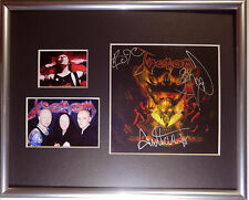 SIGNED VENOM AUTOGRAPHED HELL CD MATTED DISPLAY CRONOS ALL3 W/PICS