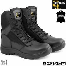 MENS SAFETY BOOTS ARMY MILITARY POLICE TACTICAL STEEL TOE CAP COMBAT WORK SHOES