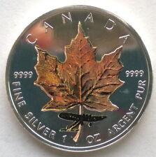 Canada 2005 Brown Maple Leaf 5 Dollars 1oz Silver Coin