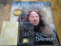 Eaglemoss Lord Of The Rings Chess Set 2 Issue 62 Damrod white pawn with mag