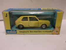 Solido No.19 Vokswagen Golf In Yellow 1:43 Scale