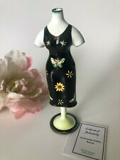 Kelvin Chen Handmade Collectible #575 Painted Enamel Spring Dress Form Free Ship