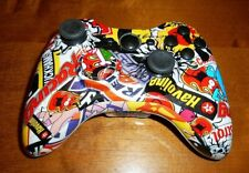 MICROSOFT XBOX 360 STICKER BOMB CUSTOM CONTROLLER IN VGWC SHELL IS BRAND NEW