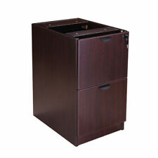 Boss Office Products Full Pedestal File/File, Mahogany