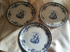 3 x johnson brothers blue plate holland very good condition