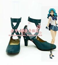 Sailor Moon Kaiou Michiru Neptune cosplay shoes boots Custom-Made 2515
