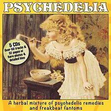 PSYCHEDELIA-5CD BOX SET NEW & SEALED A HERBAL MIXTURE OF PSYCHEDELIC MUSIC.
